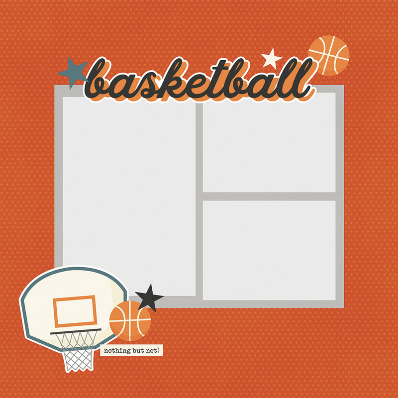 Simple Pages Page Pieces - Basketball