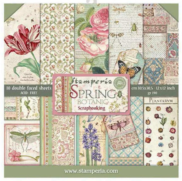 Spring Botanic 12x12 Paper Collection