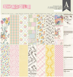 Swaddle Girl 12 x 12 Collection Kit by Authentique Paper