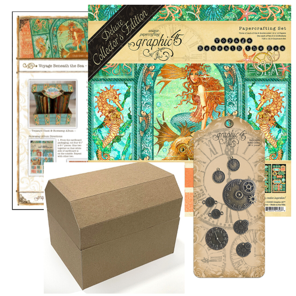 March Graphic 45 Monthly Class Series Vol 3 2021 - Voyage Beneath the Sea – Treasure Chest & Stowaway Album