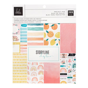 "Heidi Swapp Storyline Chapters Project Pad 7.5""X9.5"" The Journaler, 93 Pieces"
