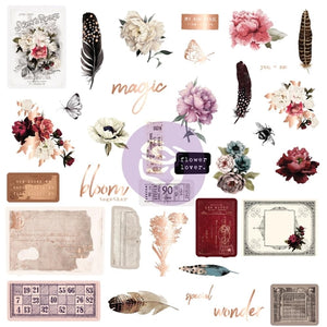 Prima Marketing Midnight Garden Ephemera 35 pieces