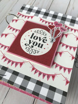 Be My Valentine Mini Album by Wendy Sue Anderson Feb's Button Farm Club Kit