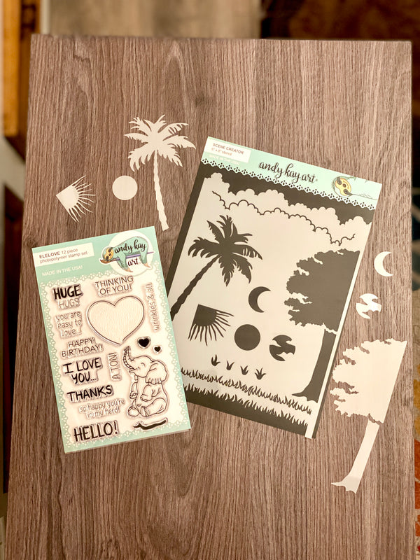 Sending Huge Hugs Stamp and Stencil Kit by Amy Sonnemann