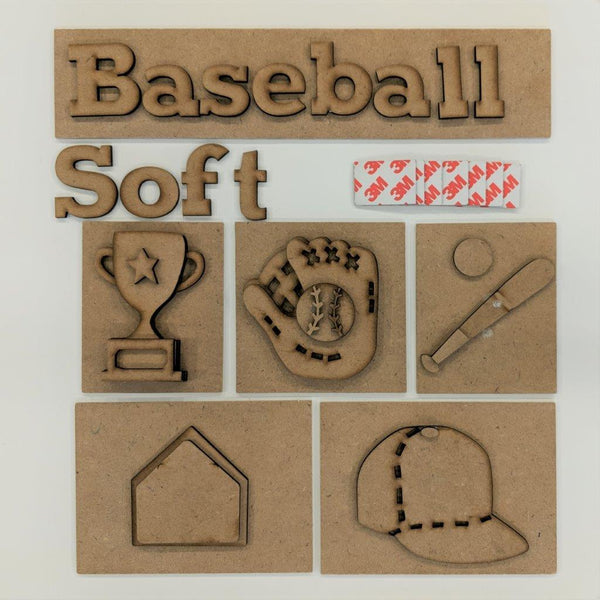 I LOVE BASEBALL (SOFTBALL)  SHADOW BOX KIT