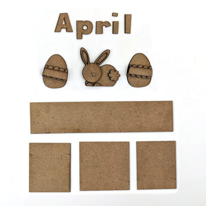 MAGNETIC CALENDAR - APRIL
