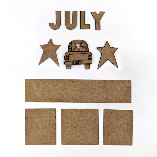 MAGNETIC CALENDAR - JULY