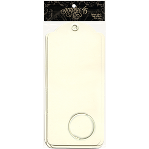 Graphic 45 Large Tags - Ivory