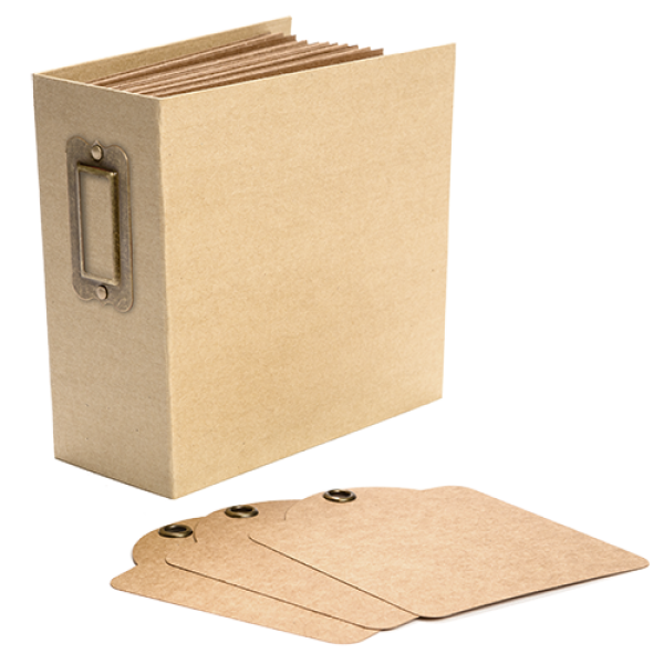 Graphic 45 Square Tag and Pocket Album - Kraft