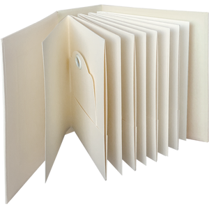 Graphic 45 ATC Rectangle Tag & Pocket Album - Ivory