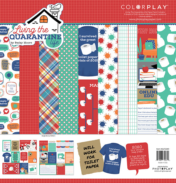 Living the Quarantine Life Paper Pack by PhotoPlay Paper
