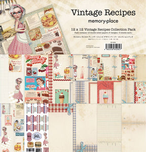 12x12 Vintage Recipes Collection Paper Pack