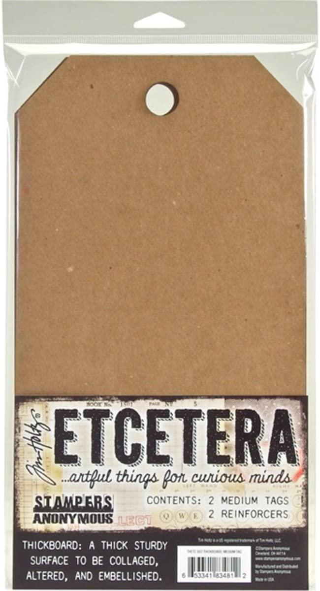 TIM HOLTZ ETCETERA MINI TAGS THICKBOARD by STAMPERS ANONYMOUS