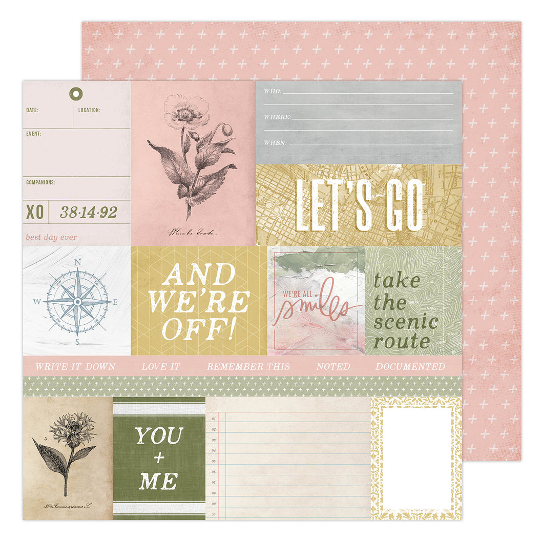 PAPER WEEKENDER Patterned Paper Storyline Chapters by Heidi Swapp