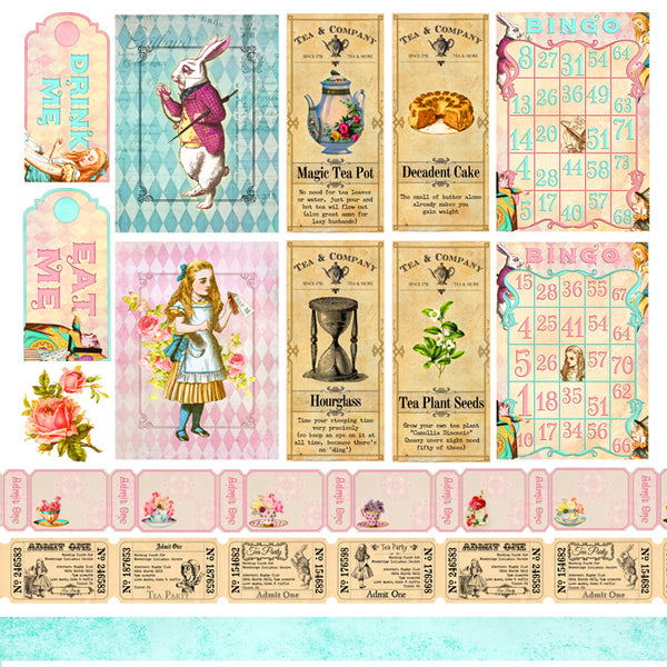 Alice's Tea Party Collection Pack 6x6
