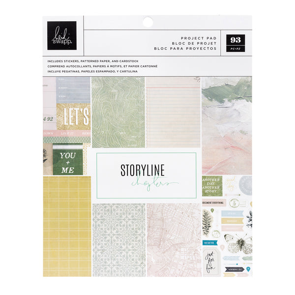 "Heidi Swapp Storyline Chapters Project Pad 7.5""X9.5""The Scrapbooker, 106 Pieces"