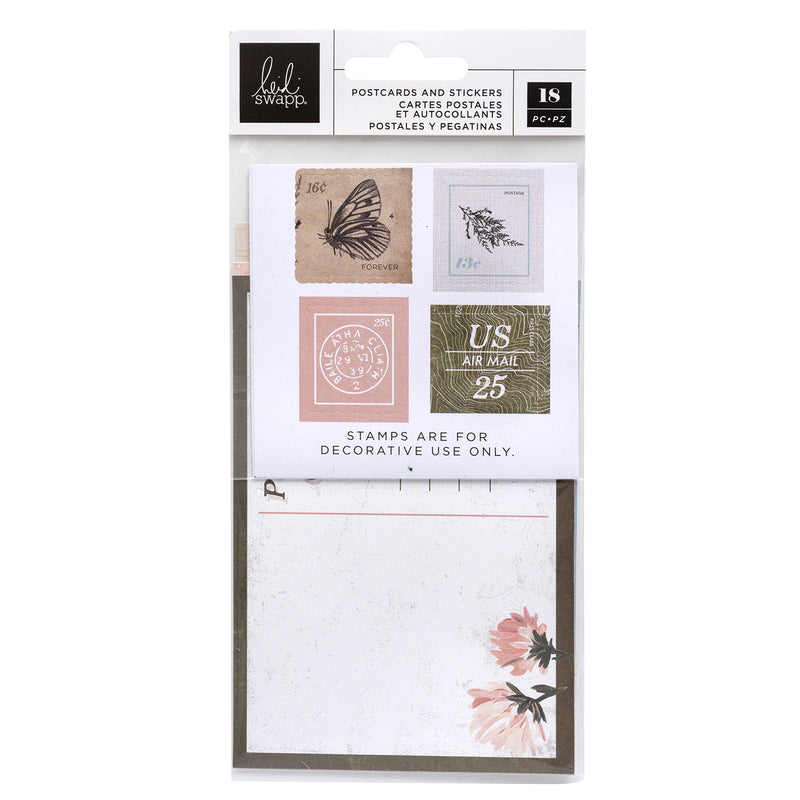 Storyline Chapters Postcards & Stamp Stickers 18/Pkg by Heidi Swapp