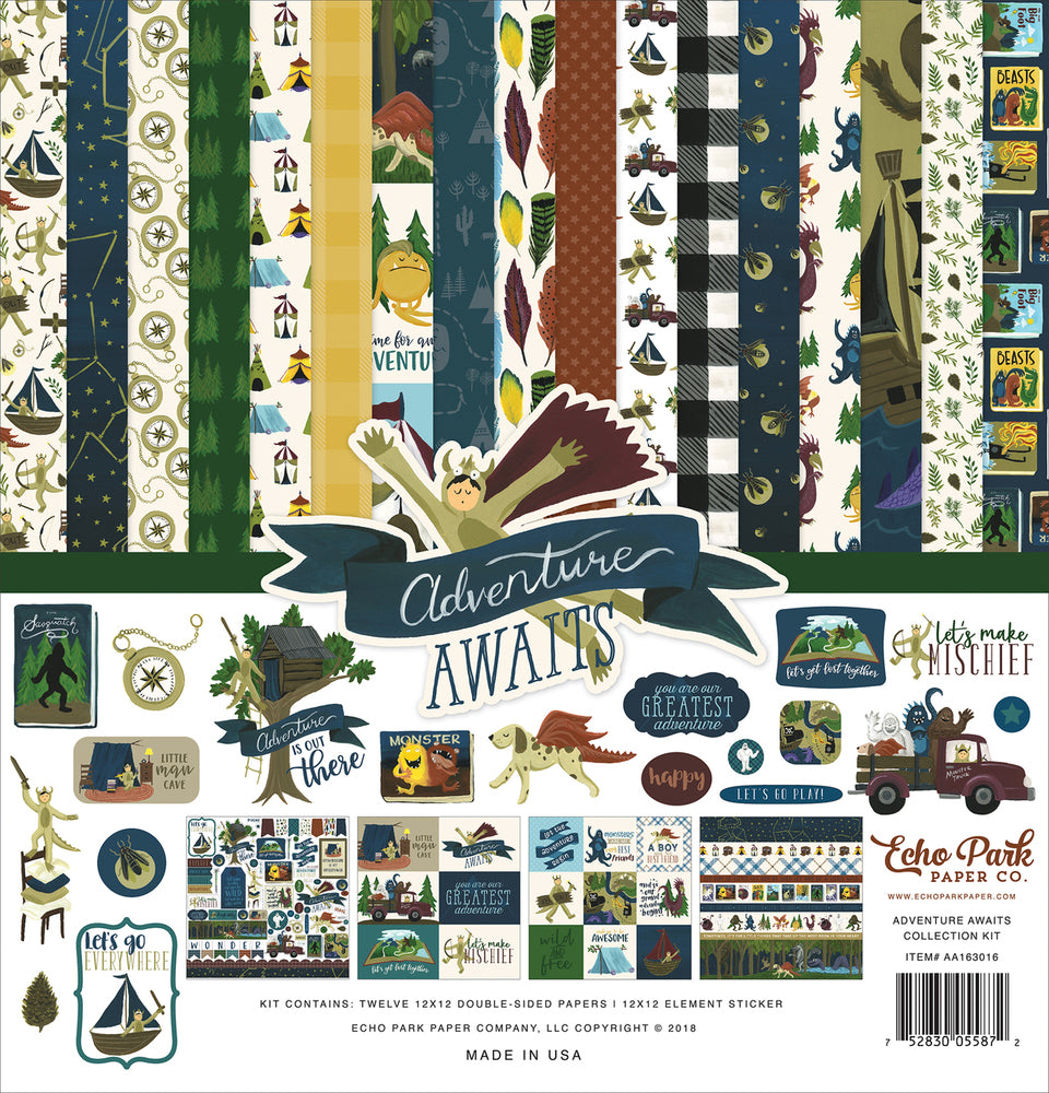 ADVENTURE AWAITS COLLECTION KIT by Echo Park