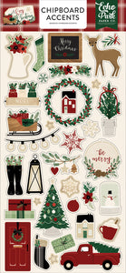 A COZY CHRISTMAS 6X13 CHIPBOARD ACCENTS by Echo Park