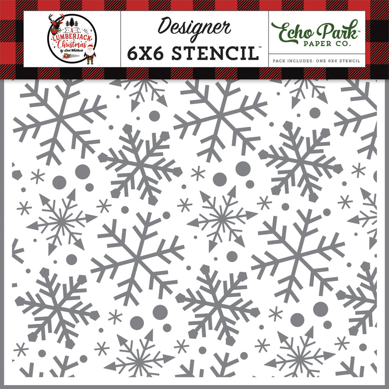 Jingle Bell Snowflakes 6x6 Stencil Set