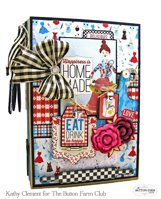 Authentique Ingredient Waterfall Recipe Album Kit by Kathy Clement ~ TUTORIAL ONLY