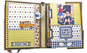 Back to School Folio with Authentique Scholastic by Kathy Clement