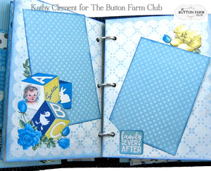 Authentique's Swaddle Baby Boy Mini Album Kit by Kathy Clement ~ TUTORIAL ONLY
