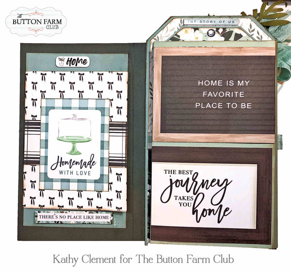 Carta Bella Home Again Etcetera Tag and Folio ~ Tutorial Only