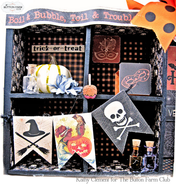 Masquerade Halloween Home Décor and Folio Kit ~ Tutorial ~