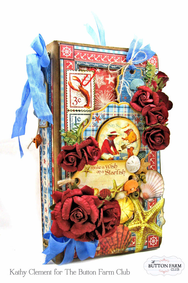 By the Sea Traveler's Notebook by Kathy Clement ~tutorial only
