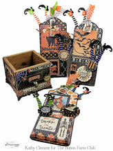 Button Farm Club Twilight Trick or Treat Tags Kit by Kathy Clement~Tutorial Only