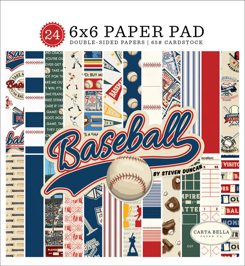 BASEBALL 6X6 PAPER PAD by ECHO PARK
