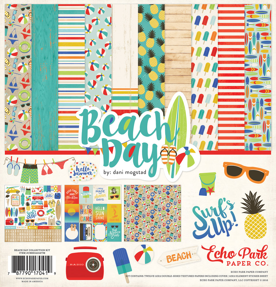 BEACH DAY COLLECTION KIT ~ by Echo Park Paper
