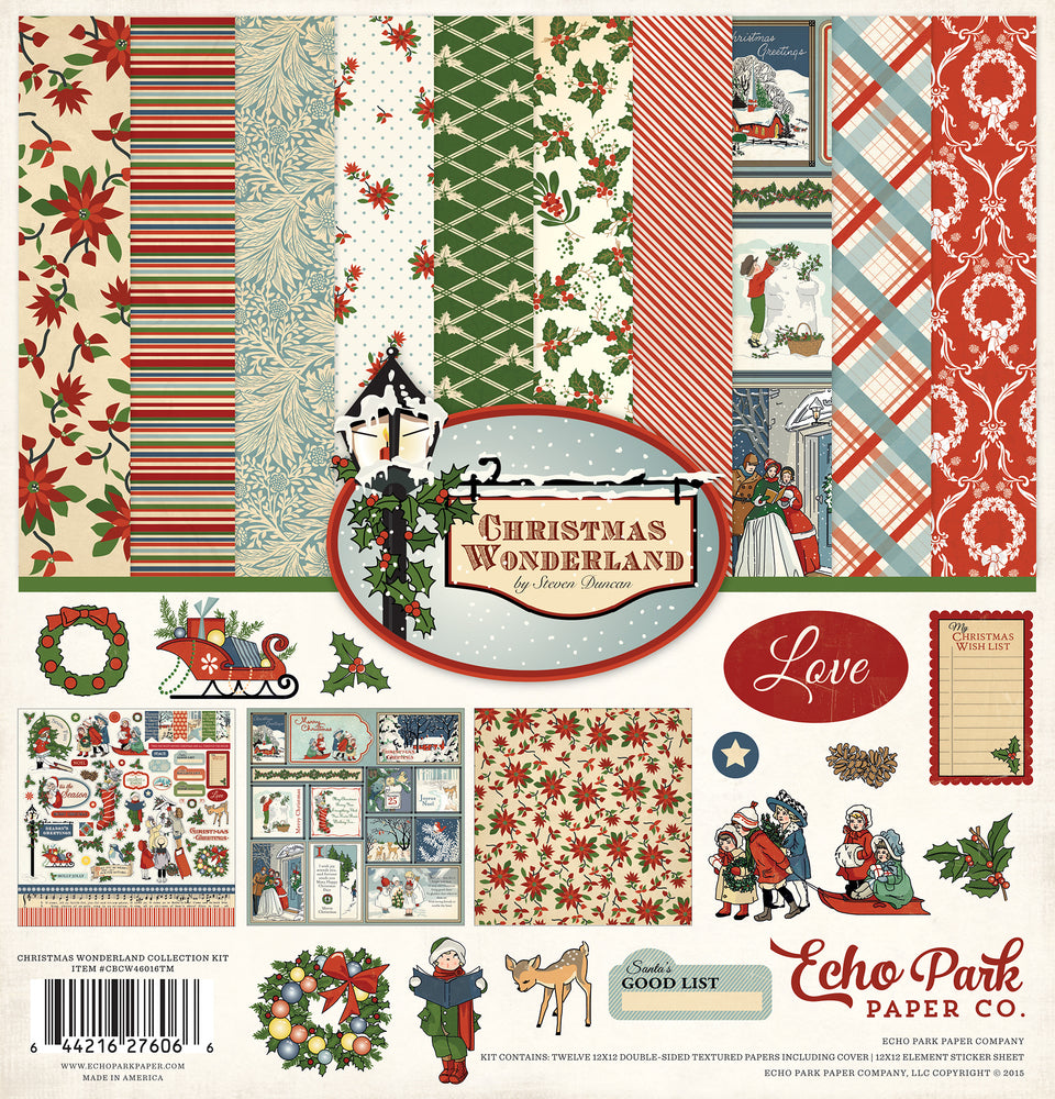 CHRISTMAS WONDERLAND COLLECTION KIT ~ by Echo Park Paper