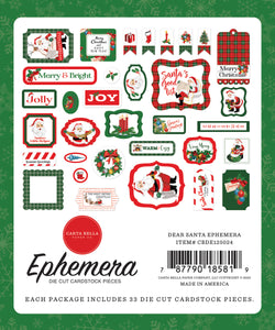 Dear Santa Ephemera