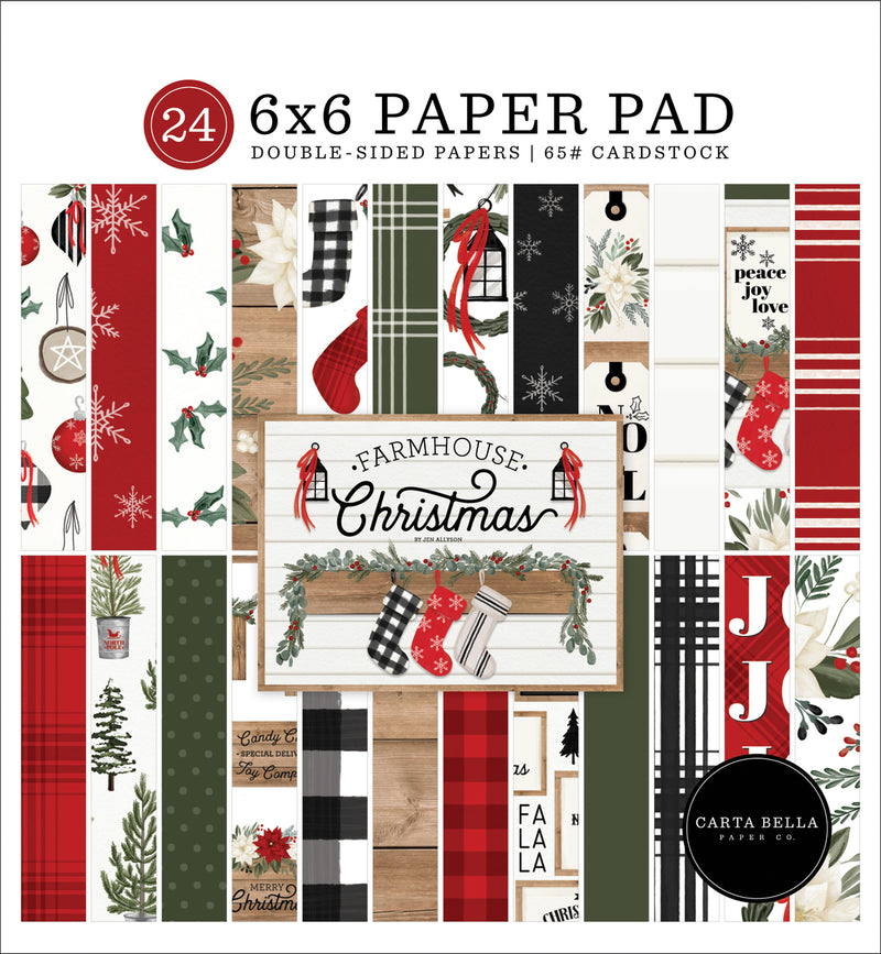 Farmhouse Christmas 6x6 Paper Pad