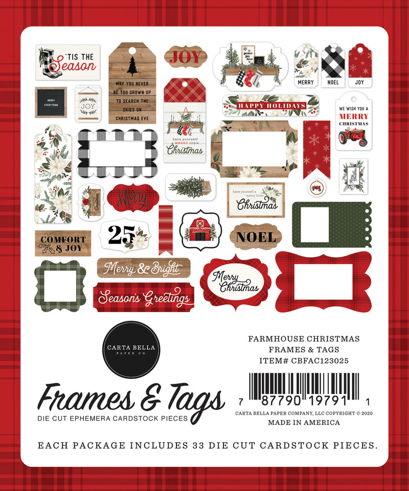Farmhouse Christmas Frames & Tags