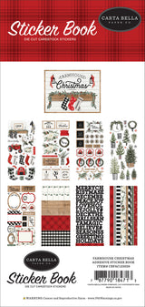 Farmhouse Christmas Sticker Book