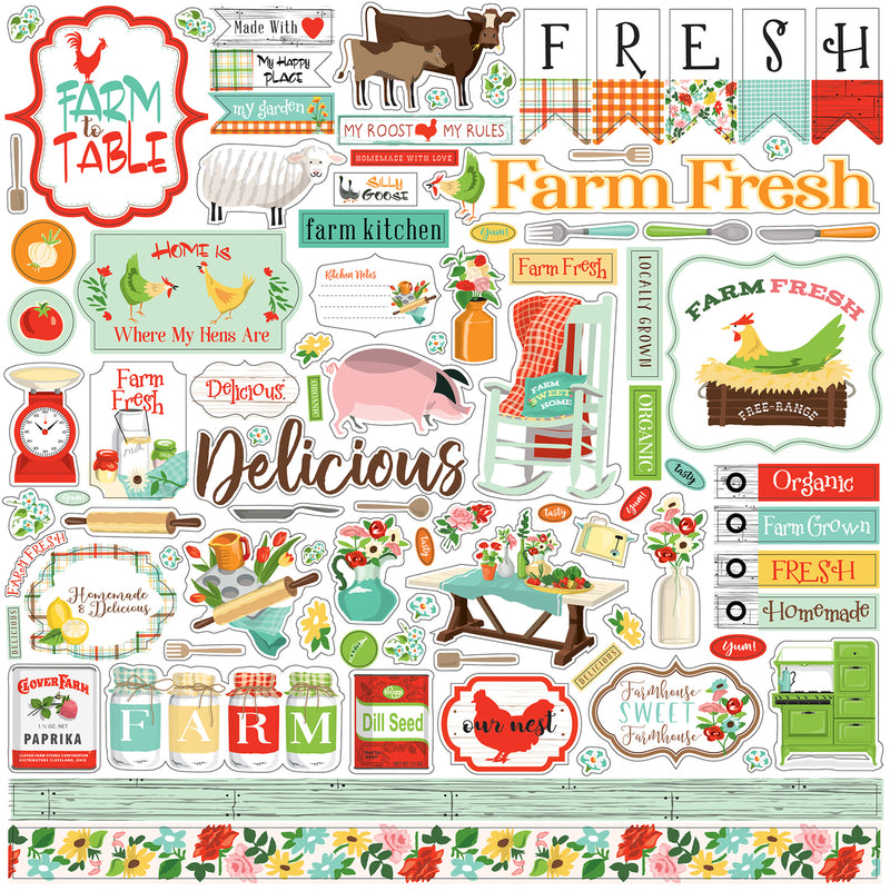 Farm to Table Element Sticker