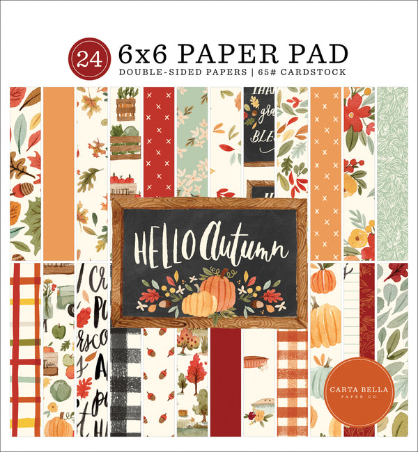 Hello Autumn 6x6 Paper Pad