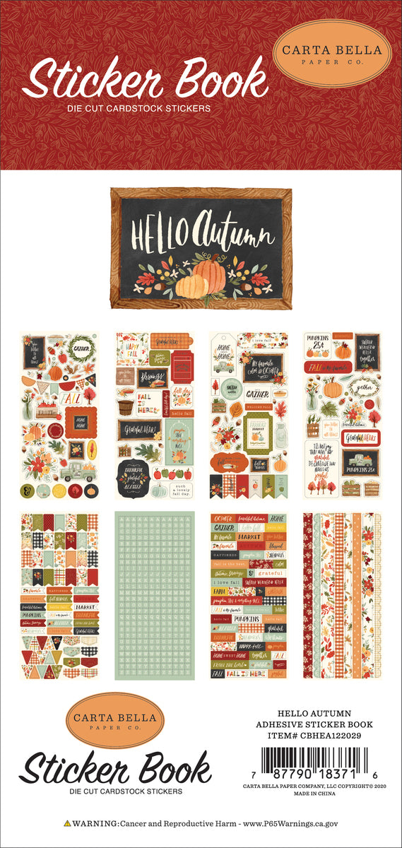 Hello Autumn Sticker Book