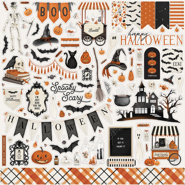Halloween Market Element Sticker