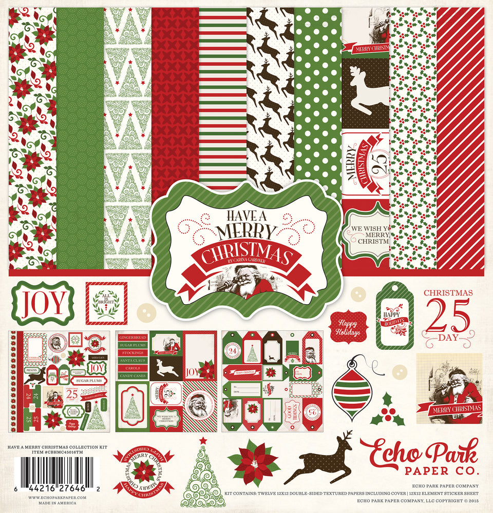 HAVE A VERY MERRY CHRISTMAS COLLECTION KIT by Echo Park Paper