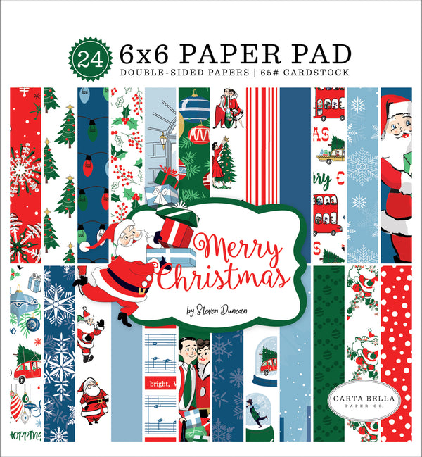 MERRY CHRISTMAS 6X6 PAPER PAD by ECHO PARK