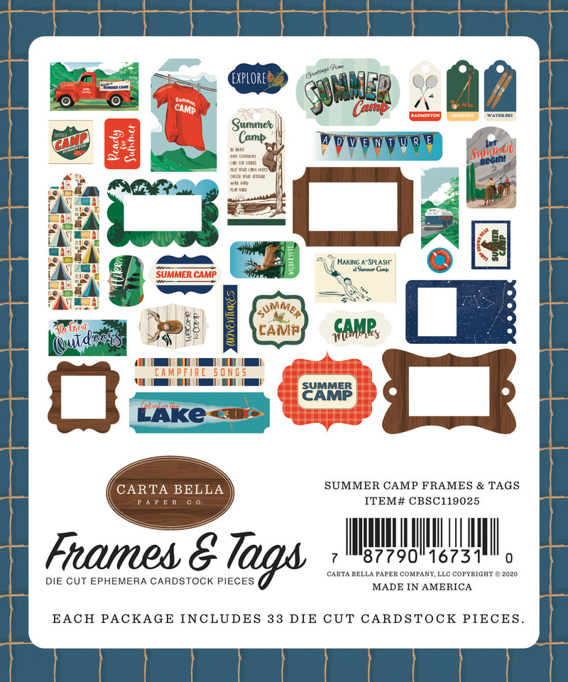 GREETINGS FROM SUMMER CAMP FRAMES & TAGS by ECHO PARK