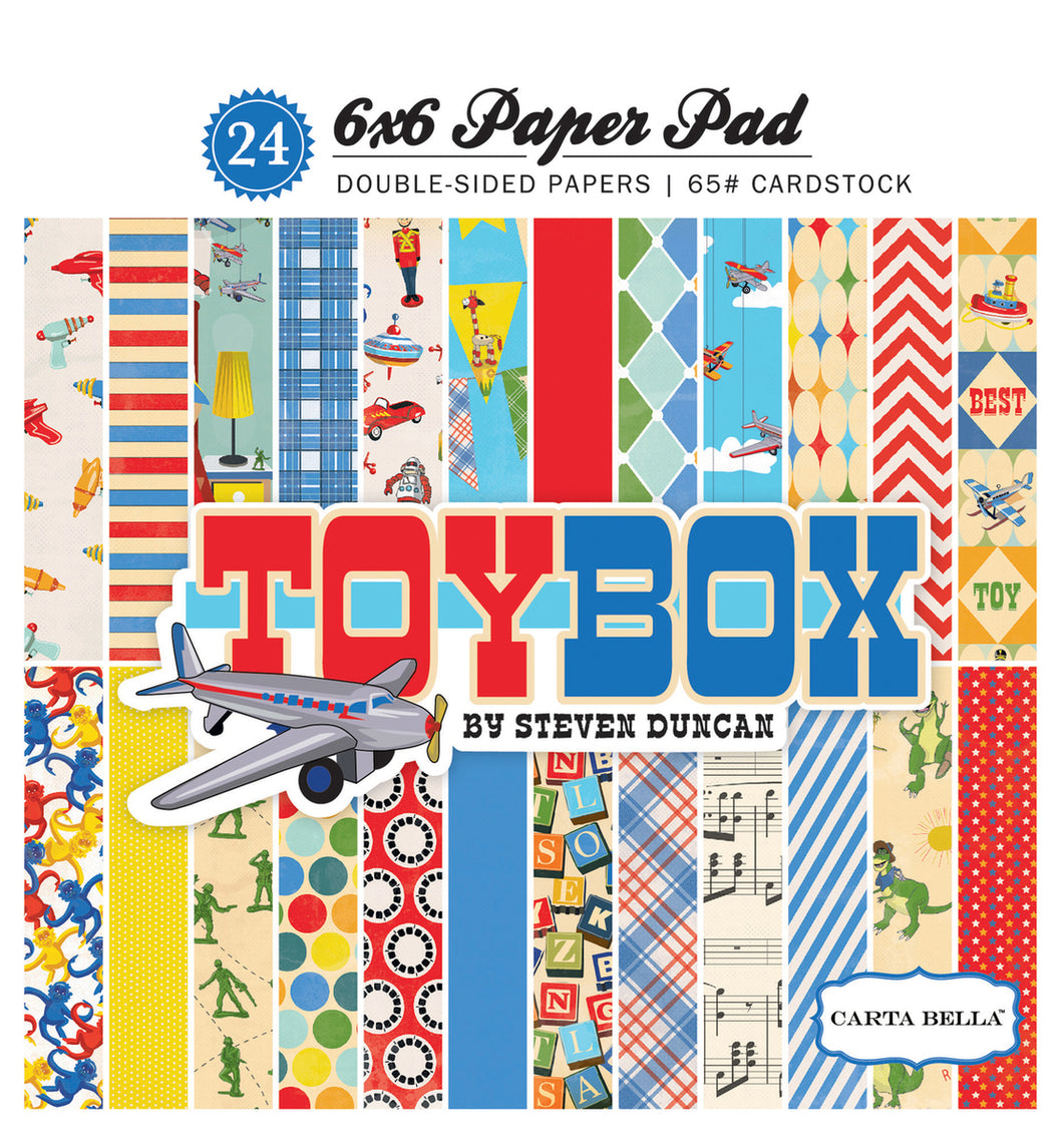 TOY BOX 6X6 PAPER PAD by ECHO PARK