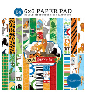 Zoo Adventure 6x6 Paper Pad **SHIPPING OCTOBER**