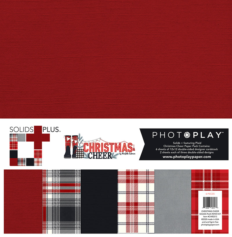 Christmas Cheer Solids 12x12 by Photoplay Paper