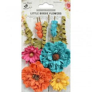 Little Birdie Handmade Flowers Elsie, Vivid Palette 10 pieces