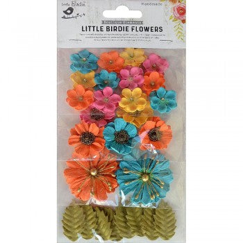 Little Birdie Handmade Flowers Renae, Vivid Palette 27 pieces